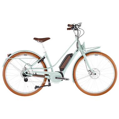 Vélo de Ville Électrique DIAMANT JUNA DELUXE+ TRAPEZ Femme Vert 2021
